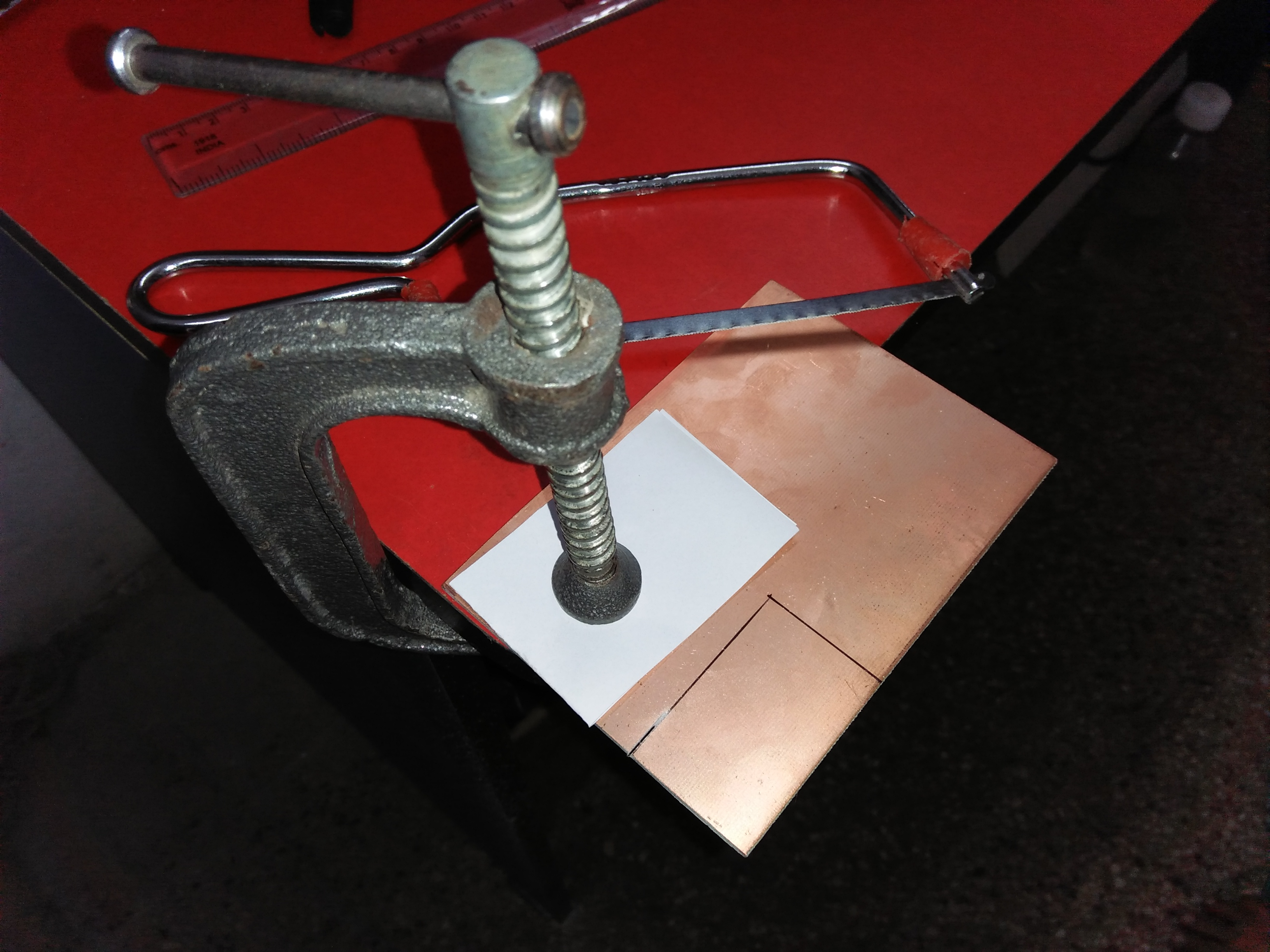 Picture of Cutting of Copper Board
