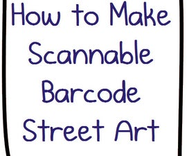 The Ultimate Nerdbait: How to Make Scannable QR Code Bar Code Street Art