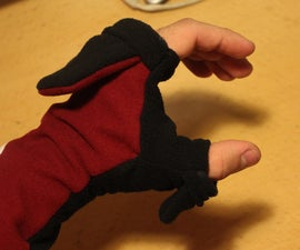 Custom convertible mittens (AND How to make clothing templates)