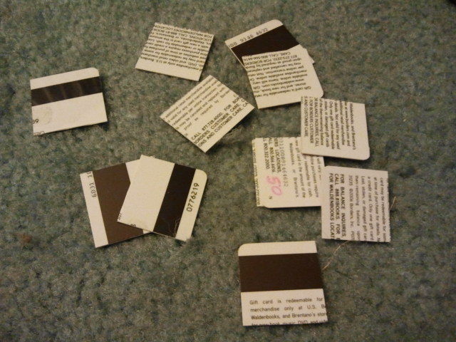 Picture of Clean the Cards, Then Make Smaller Pieces