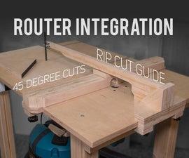 Router Table / Jigsaw 45-Degree Cuts / Rip Cut Blade Guide