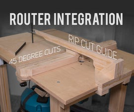 Router Table / Jigsaw 45-Degree Cuts / Rip Cut Blade Guide