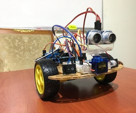 Bluetooth Controlled & Obstacle Avoiding Arduino Robot & Park Sensor