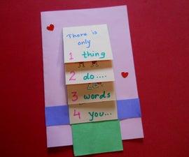 Valentines Waterfall Card