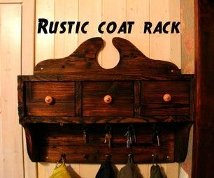 Rustic Coat Rack Using Shou-sugi-ban