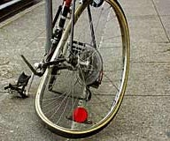 How to fix or true a bent bike rim with no tools in under a minute. (great for finishing races)