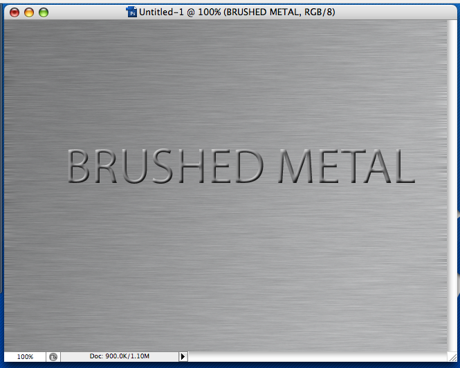 Picture of Easy Brushed Metal in Photoshop.