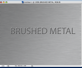 Easy Brushed Metal in Photoshop.