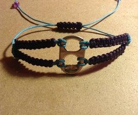Macramé soda tab bracelet