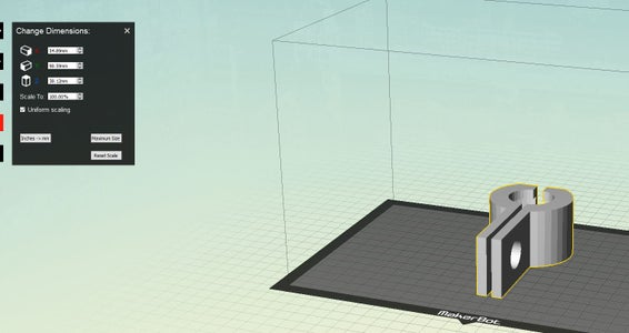 Open and Scale for Printing