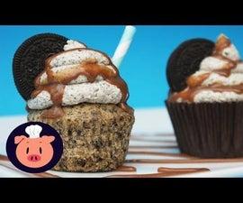 Cookies & Cream Oreo Milkshake Cupcakes