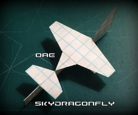 How to Make the SkyDragonfly Paper Airplane
