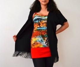 ♥ UPCYCLING DIY T-Shirt to Fringe Kimono