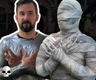 DIY Halloween Mummy