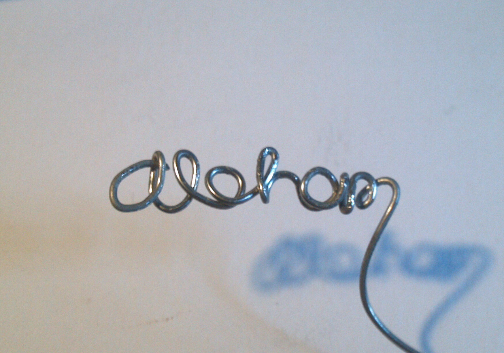 Picture of Wire Writing!