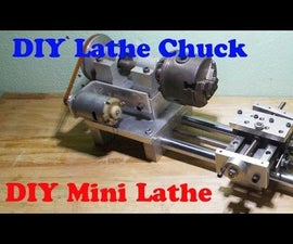 DIY Wood Mini Lathe  Metal Axis Homemade Tailstock with Motor Drill