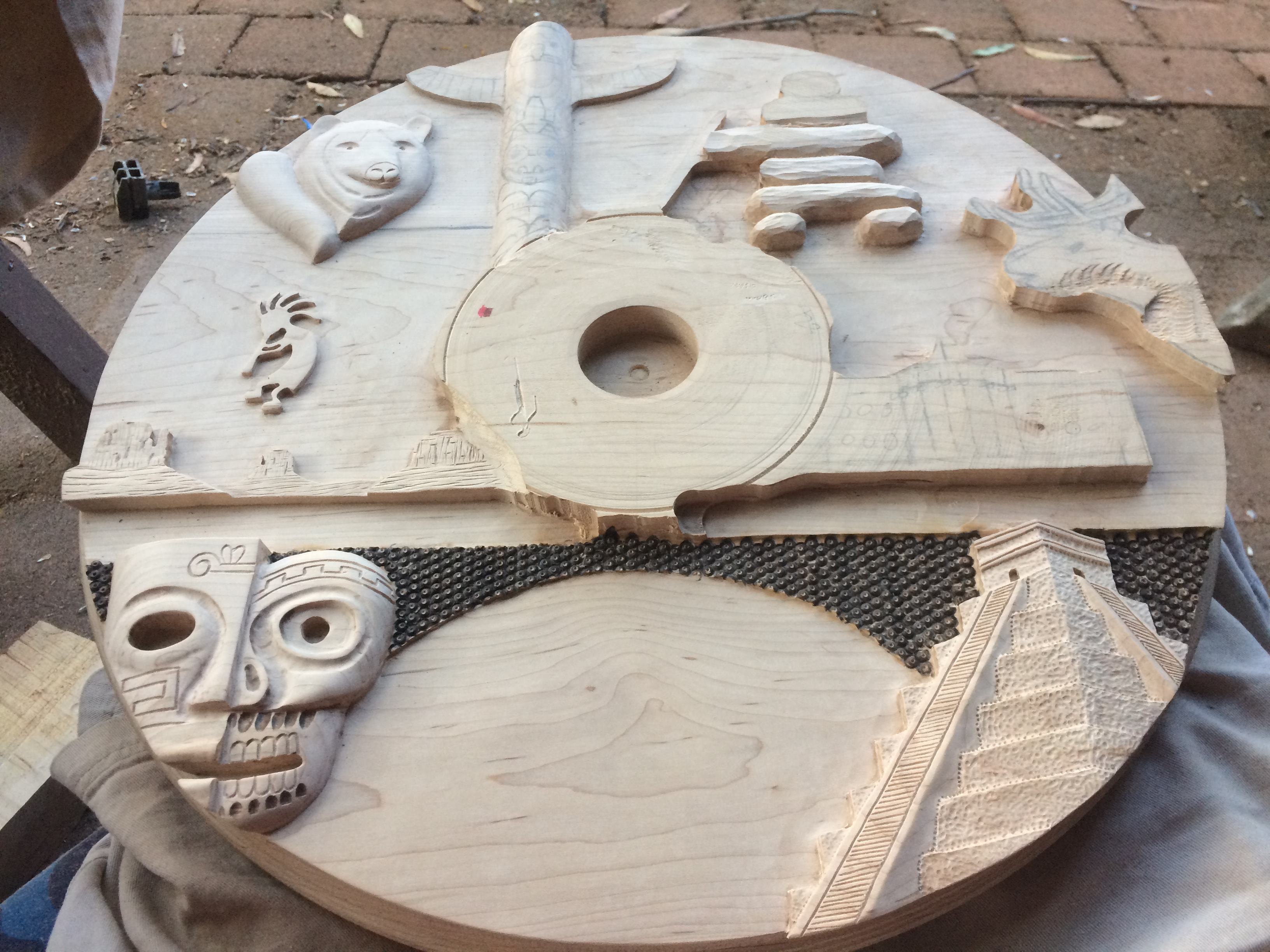 Picture of Refining the Carvings