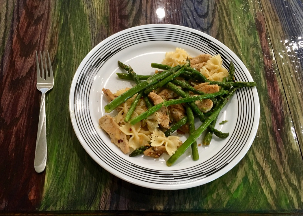 Picture of Recipe: Lemon Chicken Pasta With Asparagus