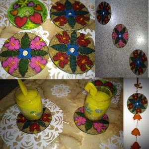 Easy to Do - Recycle CD As Coaster, Wall Hanging and Fridge Magnets