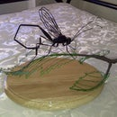 Wire Sculpture - Female Pelecinid Wasp