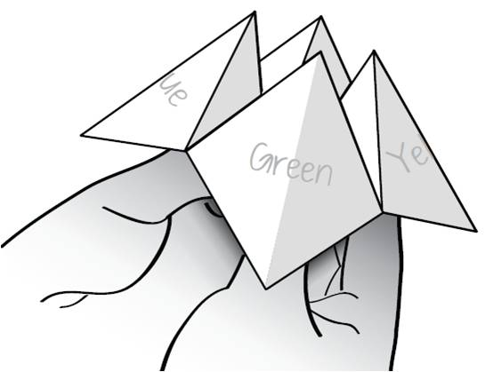 Picture of How to Make a Cootie Catcher / Fortune Teller