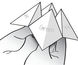 How to make a cootie catcher / fortune teller