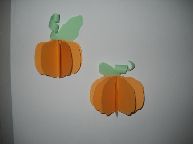 Picture of 3D Paper Pumpink - 2nd Type