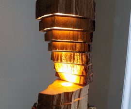 "Reclaimed Firewood Ambiance Light ""Ardenne"""