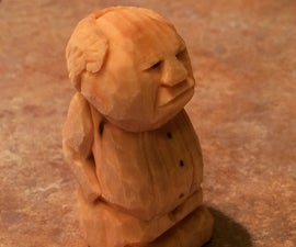 Carving A Grumpy Man From Wood
