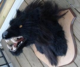 Halloween decor werewolf head