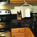Cheap & Easy Hanging Cookbook Holder