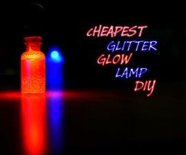 DIY Glitter Glow Lamp