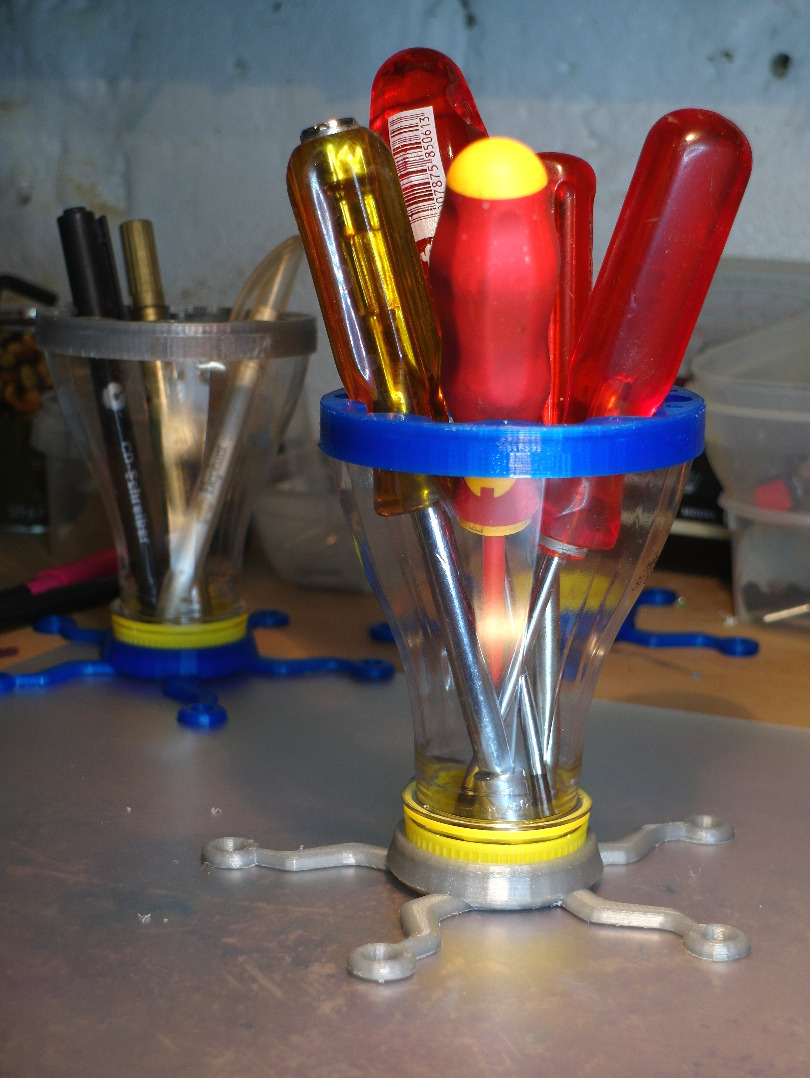 Picture of Tools Organizer - Made With 3d Parts and OJ Funnels
