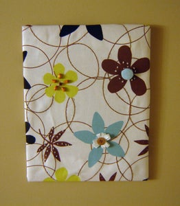 Fabric Panel Wall Art With Embellishments