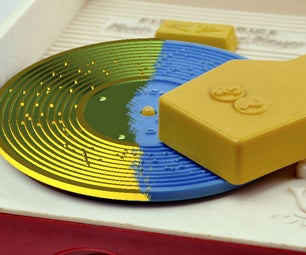 3D Printing Records for a Fisher Price Toy Record Player
