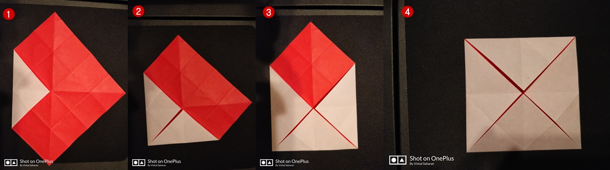 Picture of Now Fold All the Corners to the Center Point.
