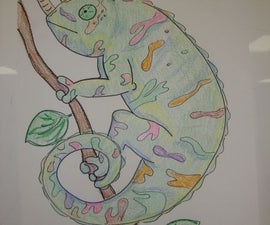 Drawing An Easy Chameleon