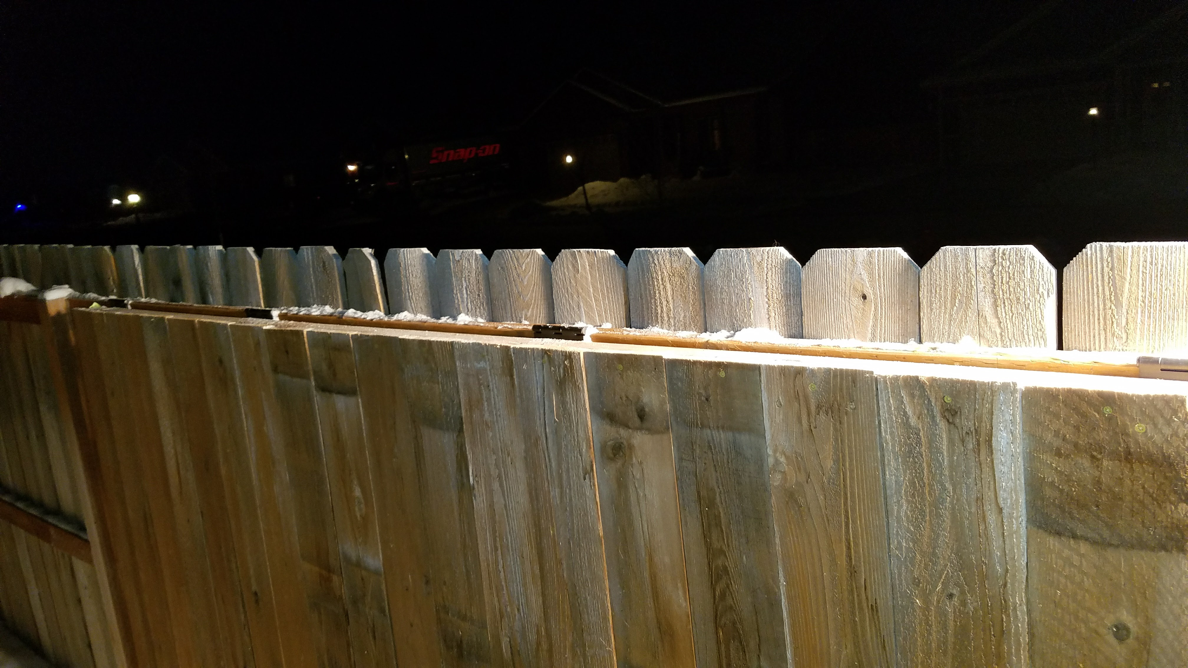 Picture of Attaching the Cover to the Fence
