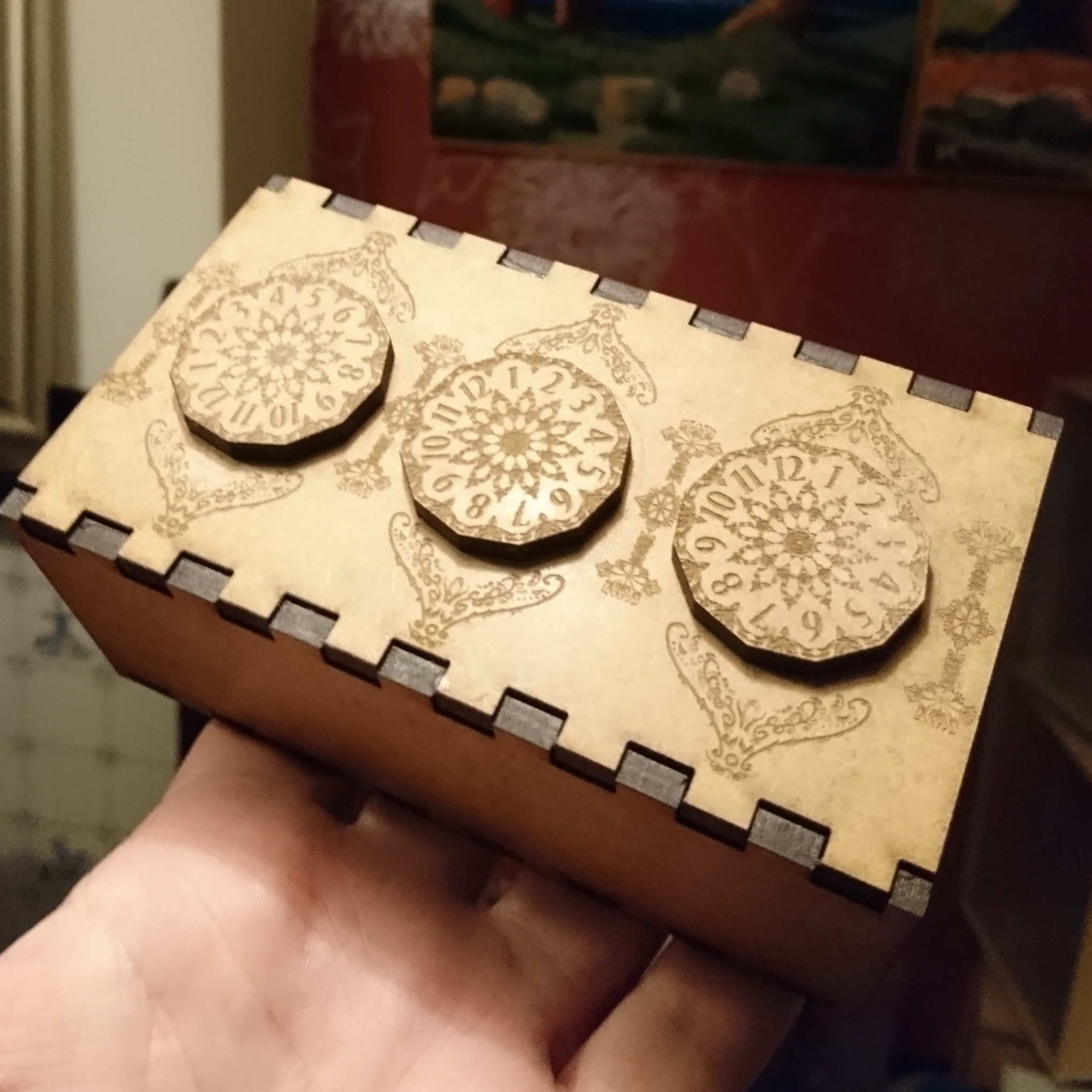 Picture of Three Dial Geared Puzzle Box [gearbox]