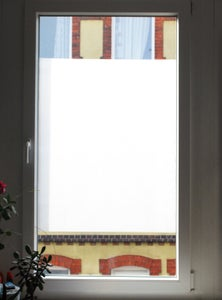 Milky Window - Makeshift Curtains