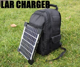 How To Make a Solar Phone Charger Backpack