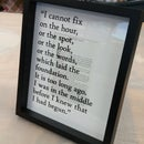 frame your favorite book quote with style!