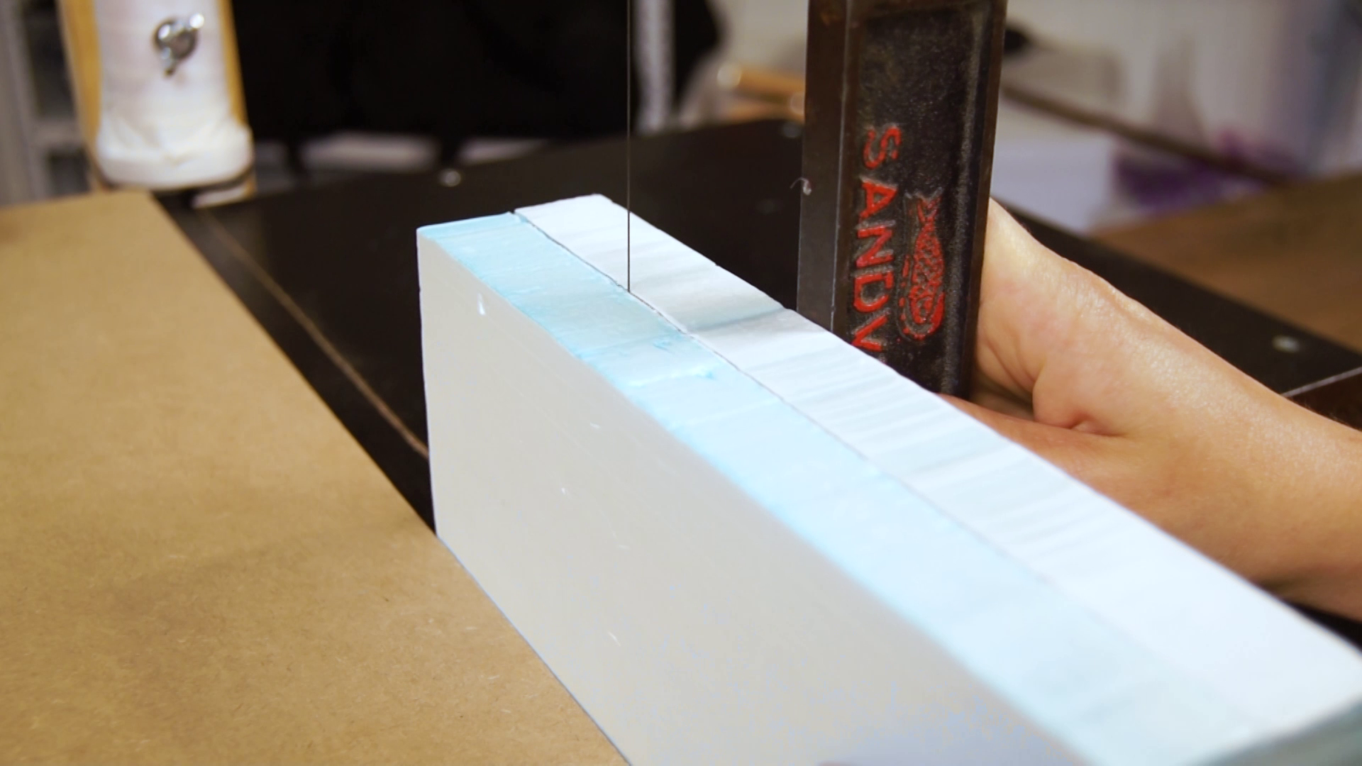Picture of Cutting the Styrofoam Pieces
