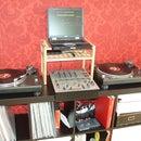 Simple and cheap DJ laptop shelf