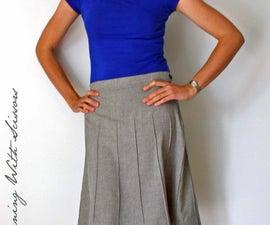 Secretary Pintuck Skirt