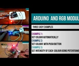 Arduino and RGB LED Module - Three Examples