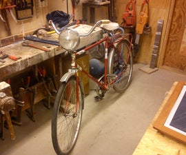 Old Headlight Converted to LED Bicycle Light