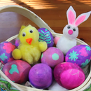 How to make dyed Easter Eggs with Stickers!