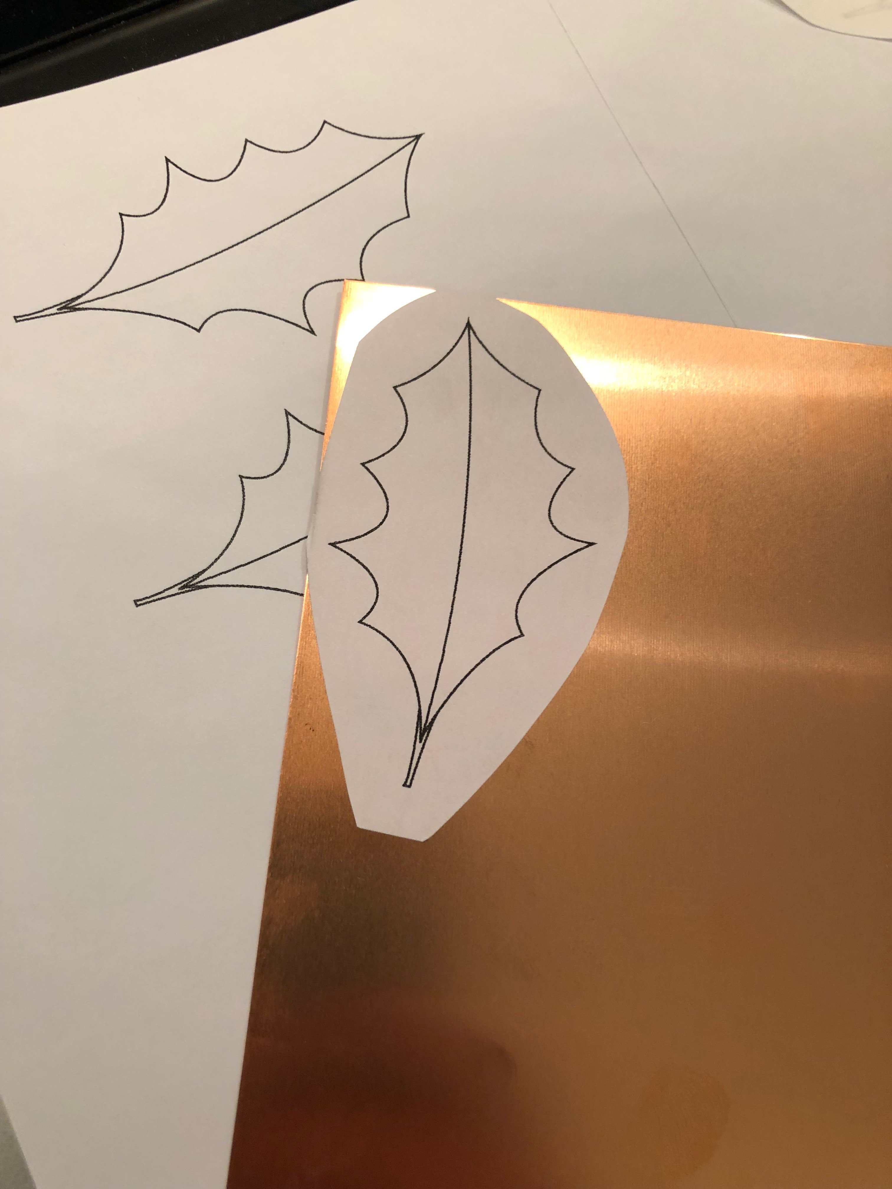 Picture of Draw Your Template and Transfer Onto the Copper Sheet
