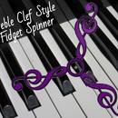 Treble Clef Style Fidget Spinner (UPDATED)